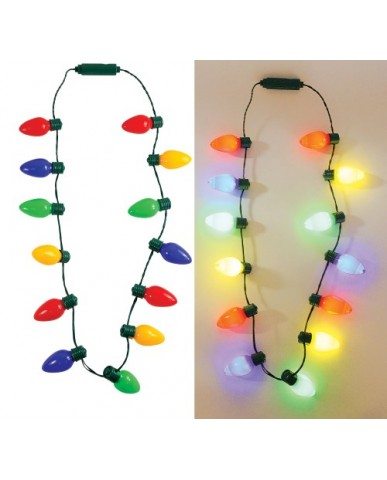 Colored Bulb Light-Up Necklace