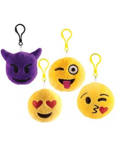 "4"" Emoji Plush Key Chain"
