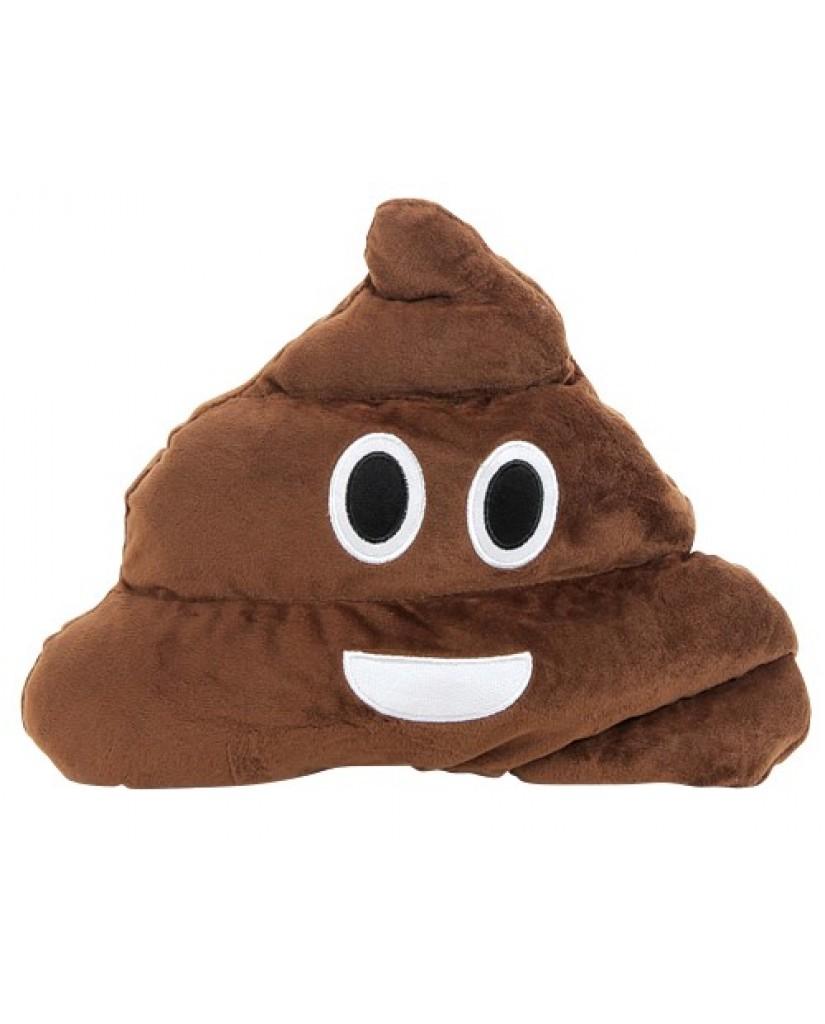 """13"""" Poop Emoji Pillow"""