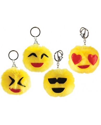 """3"""" Emoji Pom-Pom Key Chain"""