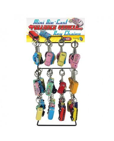 84 pc. Mini Pullback Classic Die Cast Key Chain Assortment