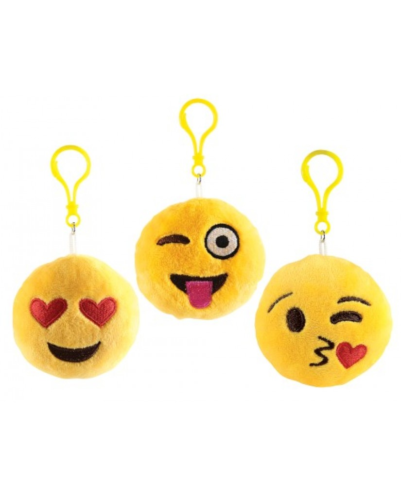 "4"" Yellow Emoji Key Chain with Sound"