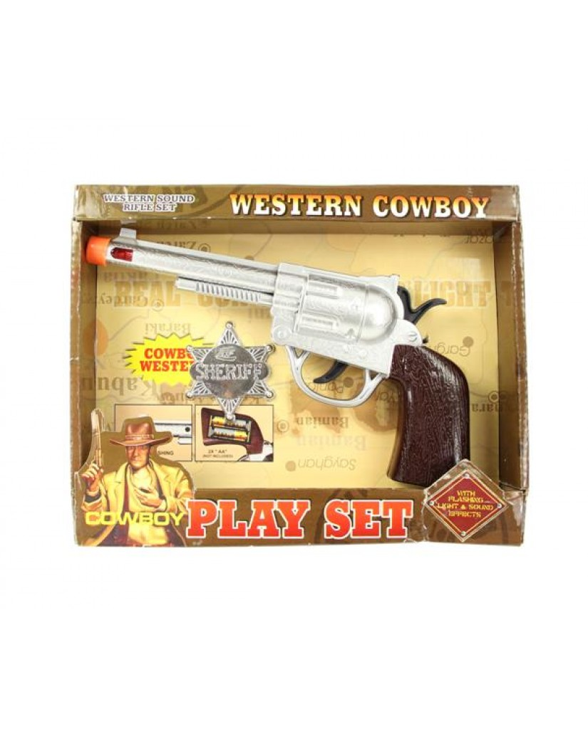 2pc Cowboy Lt/Sound Play Set