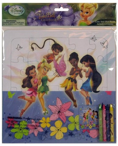 Tinkerbell Color Your Own Large Puzzle w/4 Crayons