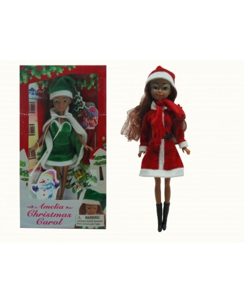 "12"" Amelia Christmas Doll (African American)"