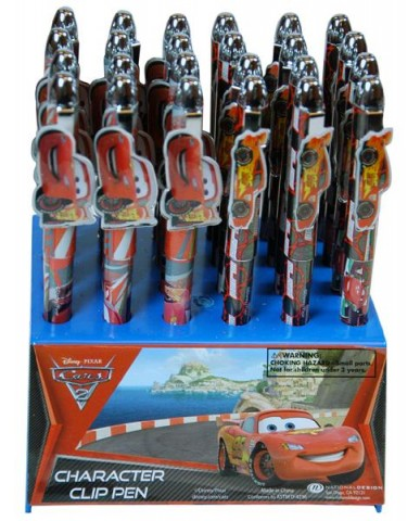 Disney Cars Shaped Character Clip Pens