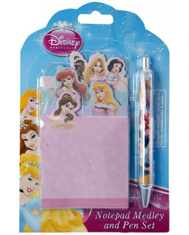 Princess Self-Stick Notes with Pen