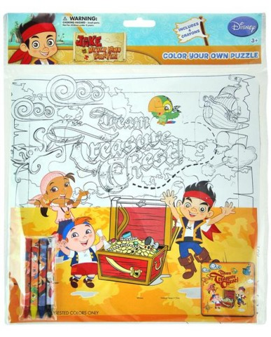 Jake & The Neverland Pirates Color Your Own Puzzle