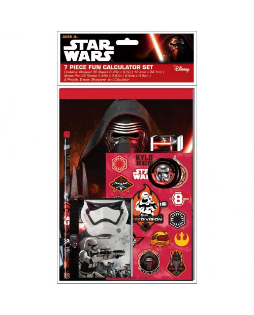 Star Wars Ep. 7 7-pc Stationery Set with Calculator
