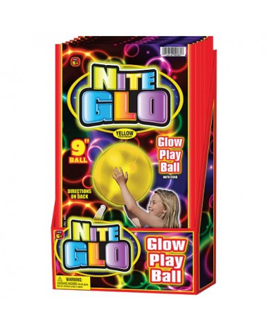"9"" Inflatable Nite Glo Play Ball"