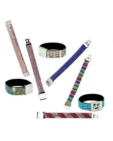 Assorted Glitzy Rhinestone Bracelets
