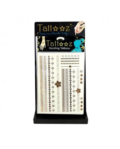 72 pc. Metallic Tattoos with Free Display