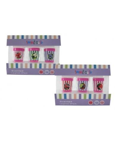 3pk Ice Cream Carton Scented Lip Gloss