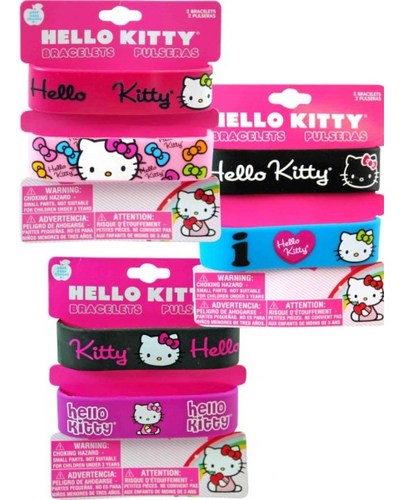 2 pk. Hello Kitty Rubber Bracelets