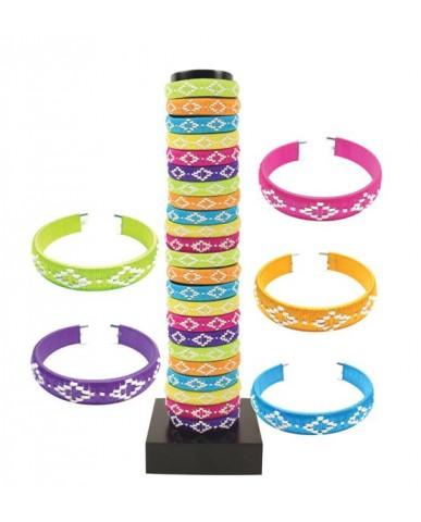 48pc Woven Cord Cuff Bracelet Asst