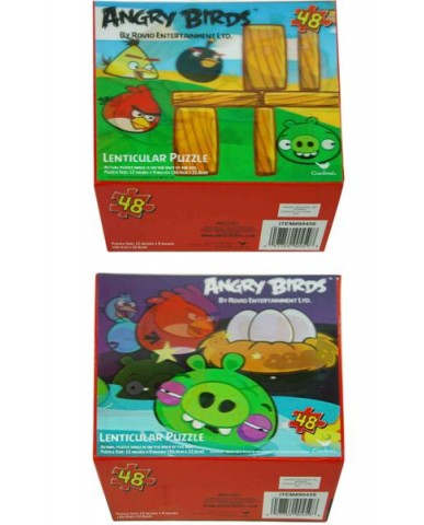 Angry Birds 48pc Lenticular 3D Puzzle