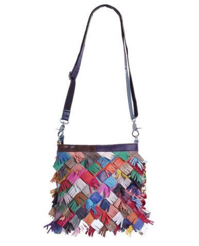 """Cascade"" Multi Color Fringe Shoulder Bag"