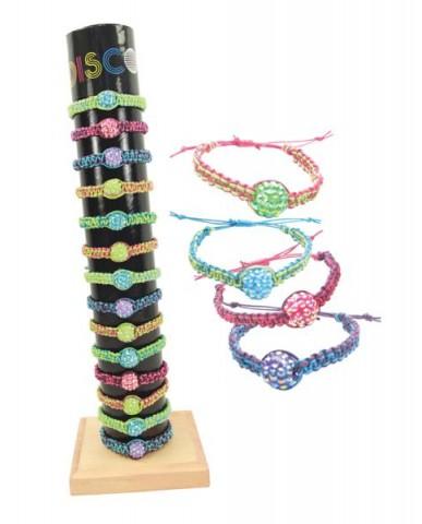 48pc Fireball Bracelets W/Adjustable Slip Knot