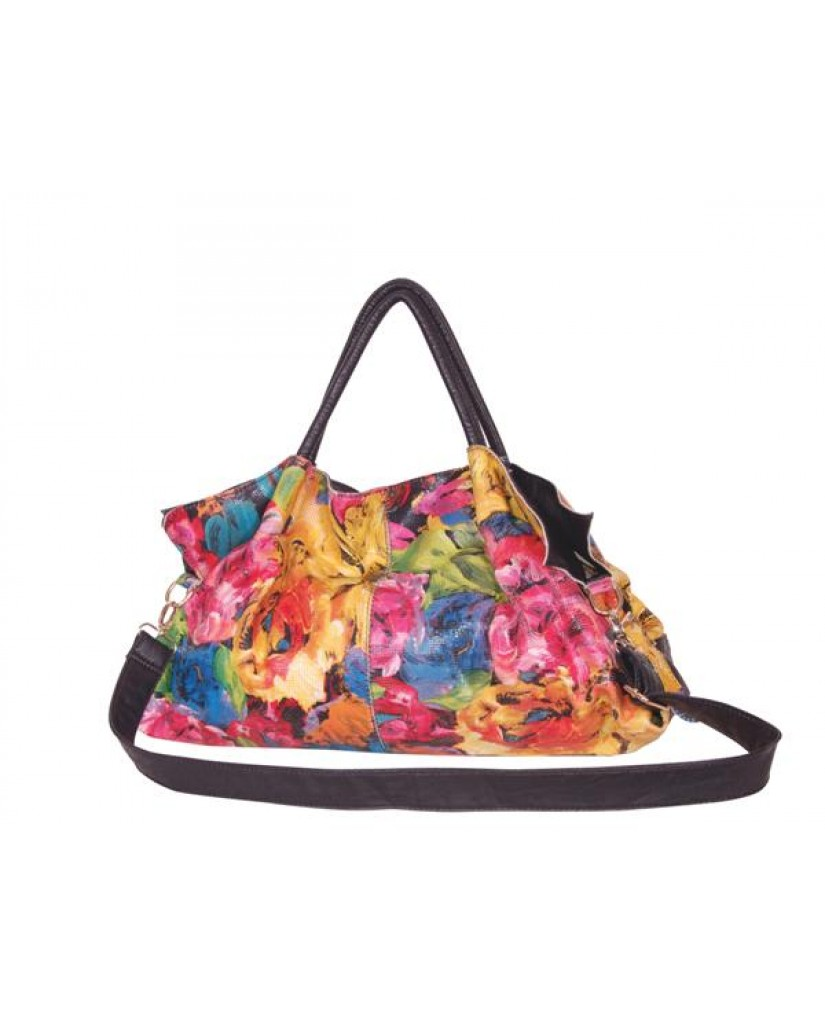 """Couleurs"" Fabulous Floral Shoulder Bag"