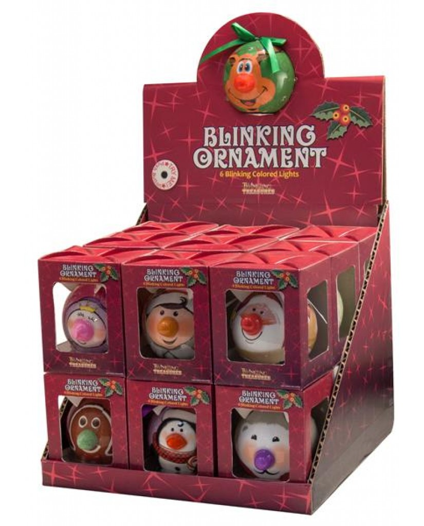 """Blinking Ornament Faces (W/ """"Try Me"""" Display)"""