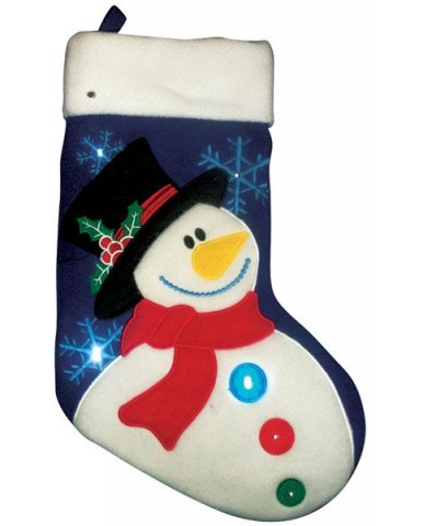 Snowman Lt Up Stocking