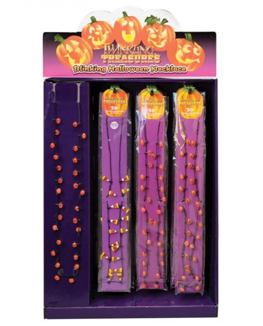 "30"" Candy Corn & Jack-O-Lantern L/Up Necklaces (Asst)"