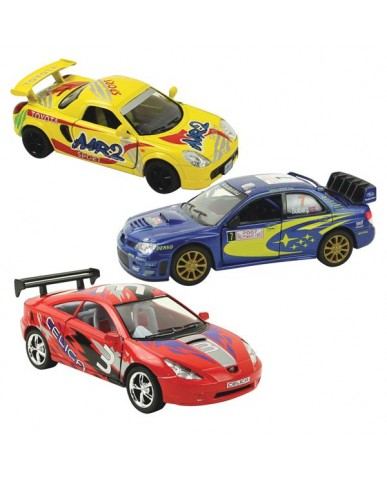 "5"" Assorted Toyota & Subaru Race Cars"