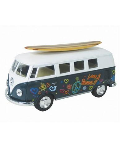 """5.5"""" 1962 Volkswagen Retro Bus with Surfboard"""