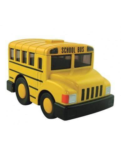 """4.5"""" Light & Sound Chubby School Bus"""