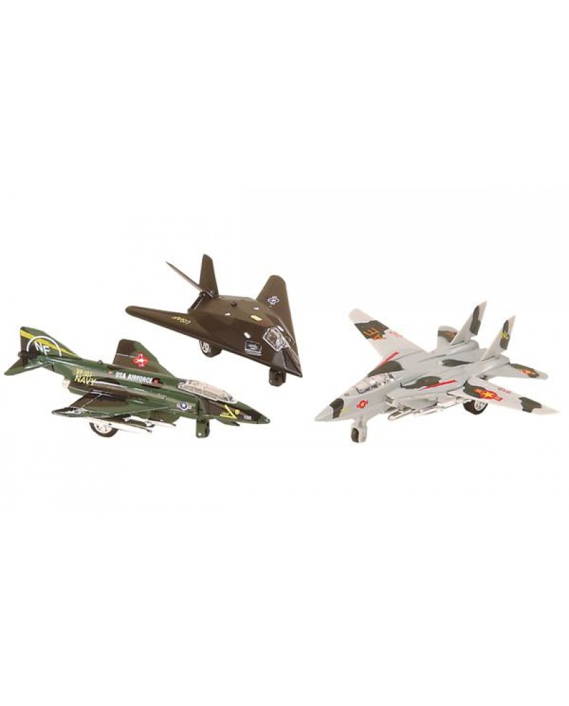 "6"" Military Jet Assortment with Light & Sound"