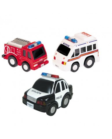 """4.5"""" Light & Sound Chubby Rescue Team Vehicles"""