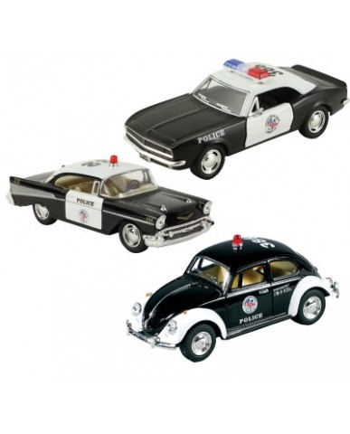 "5"" Assorted Classic Police Cars"