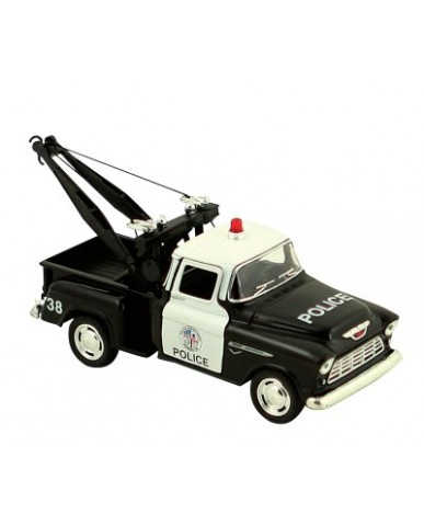 "5"" 1955 Chevy Stepside Police Tow Truck"