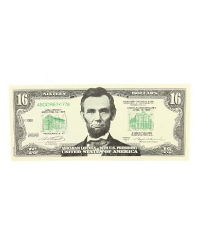 Lincoln $16 Bill