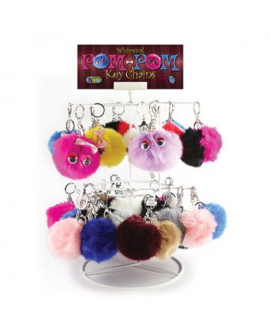 72 pc. Pom-Pom Key Chain Assortment